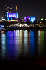 Night Rainbow (miroto2014) Tags: londonatnight nightphotography night urbanlandscape cityscape londonlandscape london londonarchitecture nationaltheatre riverthames thames reflections