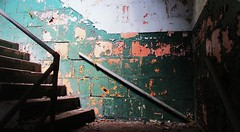 (timetomakethepasta) Tags: new york urban building stairs peeling paint stairway exploration menands