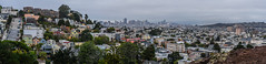 billy goat hill panorama (pbo31) Tags: sanfrancisco california city summer urban panorama motion color fog skyline dark evening nikon view rooftops traffic over large overcast august panoramic neighborhood vista stitched glenpark 2015 lightstream billygoathill boury pbo31 d810 uppernoevalley