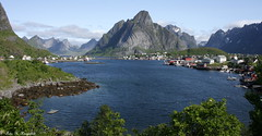 Leaving Reine (K. Haagestad) Tags: sea mountains norway village scenic lofoten reine nordland