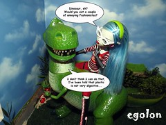 Ghoulia and Rex 2 (egolon) Tags: monster toy store high doll dinosaur deluxe disney story figure talking rex yelps ghoulia
