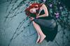 danae (Silvia Violante Rouge) Tags: flowers red nature girl photography model nikon klimt redhead danae tumblr alexstoddard nikontop