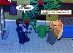 Starving Zombie (BrickSev) Tags: comics photography star comic lego zombie jar parody wars collectible legostarwars binks jarjarbinks cmf starwarsparody minifigures legozombie zombiebusinessman series14 parisianrestaurant legophotography horrorparody brickcomics legohorror jarjarparody comicspardoy
