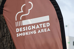 Sign for the designated smoking area at the Minnesota State Fair (m01229) Tags: minnesota state fair smoking nosmoking smokingarea cigarettesmoke d7200