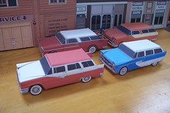 Wagons Ho! in papercraft (official inspection station) Tags: ford chevrolet plymouth pontiac 1956 papercraft 1955chevrolet stationwagons papertoy papercar 1956ford 1956plymouth 1955pontiac plymouth1955chevrolet papercraftstationwagons papercarstationwagons
