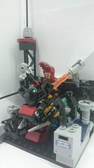 HEAD MANUFACTORING (danielhuang0616) Tags: red man iron lego samurai marvel shogun mecha avengers bushi ronin moc