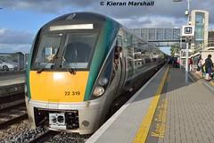 22019 at Portlaoise, 23/9/15 (hurricanemk1c) Tags: irish train rail railway trains railways irishrail rok rotem portlaoise 2015 icr iarnród 22000 22019 éireann iarnródéireann 4pce 1620heustonportlaoise