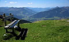 Seat with a view (raymondbell1953) Tags: mountain grass seat