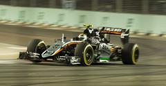 Sergio Perez / Force India, Singapore Grand Prix 2015 (tik_tok) Tags: night singapore asia f1 racing grandprix formula1 2015 nightrace singaporegrandprix sergioperez forceindia marinabaystreetcircuit
