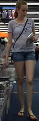 557 (jimmystrider135) Tags: girls woman girl women toes pants legs sandals jeans short shorts sandalen zehen