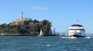 California. Bay Area. Alcatraz on the burnt side.