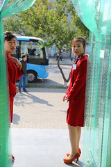 IMG_4806 (NK10/10) Tags: door bus women uniform dress entrace