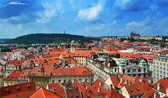 Panoramic View of Prague (Million Seven) Tags: life street city trees roof sky people castle church gardens architecture buildings wonder amazing nikon europa europe king prague district hill capital gothic towers iglesia style praha praga palace panoramic medieval fairy tiles imperial czechrepublic renovation baroque colina bohemia middleages 14thcentury castillo petrin hradcany fairytales hradany monastry palacio staremesto malastrana malstrana repblicacheca starmsto petnlookout eskrepubliky ceskerepubliky nikond3100 millionseven