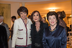 Shirin Reza, Anousheh Razi and LACO à la carte chair and board member Mahnaz Newman