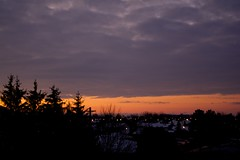 7am (thatgirlwiththekicks) Tags: morning pink trees winter sky orange ontario canada silhouette clouds sunrise dawn golden purple stthomas saintthomas