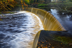 Guyzance  River Coquet Weir (gobgod) Tags: autumn water waterfall nikon northumberland rivercoquet d7100 guyzance