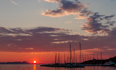 Sunset - Sky-Clouds & Sea ( Sivota Harbour - Greece) (Canon EOS 7D & EF 35mm f2 Prime) (1 of 1) (markdbaynham) Tags: sunset view sky colour boats sivota harbour greece grecia greka gr hellas hellenic canon canonites canonite eos 7d ef 35mm f2 prime