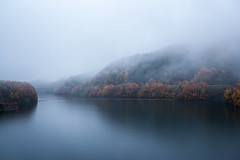 Distant view (from a smalltown) Tags: autumn white lake fog landscape a
