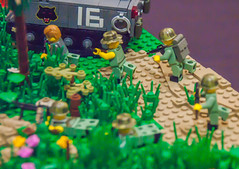 Search and destroy, Vietnam, 1972 (SEdmison) Tags: california us vietnamese lego military vietnam american convention santaclara 1972 nva bricksbythebay bricksbythebay2015