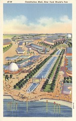 Constitution Mall - 1939 New York World's Fair (The Cardboard America Archives) Tags: newyork vintage postcard pavilion 1939 worldsfair