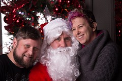 Sitting with Santa (Georgie_grrl) Tags: santa christmas jason toronto ontario me fun holidays churchstreet woodys pwa thbs bowlingleaguefundraiser torontohistoricalbowlingsociety forpeoplewithaids bothnaughtyandnice