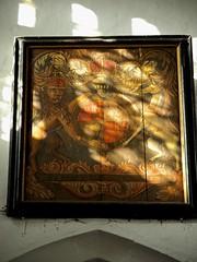 PB121119 (simonrwilkinson) Tags: church suffolk queenanne medieval stnicholas royalarms denston c15th