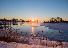Sunrise the Morning After Winter Storm Jonas by Susan Hale (AccessDNR) Tags: 2016 photocontest winter sceniclandscape scenery snow storm sunrise winterstorm jonas shippigcreek kentisland