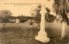 Woodlawn Park Cemetery Miami Vintage Postcard (Phillip Pessar) Tags: woodlawn park cemetery miami vintage postcard