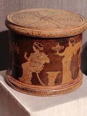 1-4 Dressing Table History (MsSusanB) Tags: metmuseum metropolitan art dressingtable cosmetic greek pyxis terracotta antique