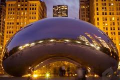 Night Lights (Myk Jordan) Tags: chicago illinois unitedstates cloudgate bean chicagobean art streetart