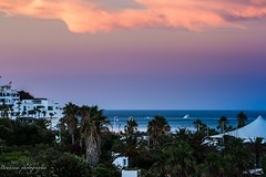 Cabo Negro sunset. (Bouhsina Photography) Tags: plage mer sea couleur color landscape ttouan maroc morocco cabo negro t 2016 sunset coucher soleil horizon bateau plaisance clouds beach wow