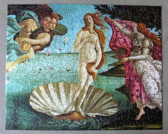 The Birth of Venus (pefkosmad) Tags: jigsaw puzzle leisure hobby pastime complete art fineart painting botticelli birthofvenus 450pieces