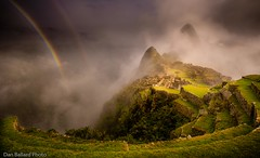 Double Rainbow over Machu Picchu (Dan Ballard Photography) Tags: yellow machupicchu ruins southamerica rainbow strom storm double peru landscape galley pro best shots