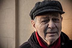 Portrait of an elderly man. (samueletoppi) Tags: streetphotography portrait portraits nikonportrait nikond90 nikon streetportrait photo photography person eyes old people man