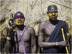 Mursi Tribe Warriors (Luc V. de Zeeuw) Tags: ethiopia mun mursi omo omovalley tribe warrior southernnationsnationalitiesandpeoplesregion