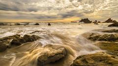 Beach Sunset (Michael Lawenko dela Paz) Tags: malibu malibucalifornia elmatadorbeach california coast milkywaves waves losangeles discoverlosangeles discoverla