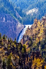 The dispersion and reflection of sunlight (kc_hoang) Tags: yellowstone waterfall mountain tamminhphotography travelplanet worldwidelandscapes worldtravel