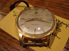 "GERARD PERREGAUX 18K GOLD GYROMATIC WRISTWATCH. • <a style=""font-size:0.8em;"" href=""http://www.flickr.com/photos/51721355@N02/30171908402/"" target=""_blank"">View on Flickr</a>"