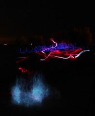 smoke and lights (epicDi) Tags: portdalhousie smoke lightpainting lakeontario night stcatharines