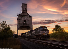 Under the Tipple (Brandon Townley) Tags: trains railroad coaltipple coalingtower sunset ns norfolksouthern marion ohio sky clouds