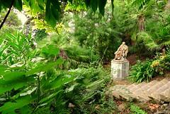 El escondite de Lord Byron (Corfú, Grecia) (alfonsocarlospalencia) Tags: lord byron corfú jardín verde plantas escaleras reflexión pensamiento poeta estatua piedra arte belleza palacio de aquiles grecia edén descanso genio