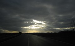 dramatic sky (BZK2011) Tags: canon digitalixus 870is kompaktkamera sky dramatic himmel strase road