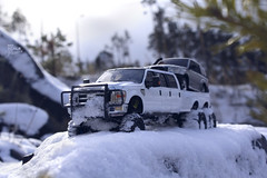 Ford F-350 6 door 6wd 24 (My Scale Passion) Tags: ford f350 meng monogram losi micro mini crawler scale rc modeling custom snow snowrun crawling climbing expedition northpole southpole truck double dual dually duallie 6door 10wd 10x10 125 124 miniz overland landcruiser build