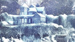 Her hideaway (Alexa M.) Tags: thearcade secondlife winter outdoors snow home hive house landscape