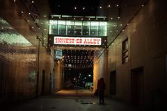 Sleepwalking (BB ON) Tags: toronto ontario canada honesteds alley dark city night urban street dystopia dream outdoor decay light reflection woman person shadow