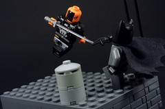 Deathstroke Assault (MrKjito) Tags: lego minifig batman death stroke dc comics comic bruce wayne slade wilson gotham mercenary battle arkham game inspiration vs