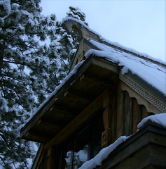 VIKING (Rus) OKHLUPEN    -   Russian gable detail (The VIKINGS are Coming!) Tags: viking longhouse okhlupen woodcarving baita hutte hytte chalet cabin retreat norsk norse sverige izba