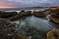 Sideways (Crouchy69) Tags: sunrise dawn landscape seascape ocean sea water coast clouds sky rocks long exposure clovelly beach sydney australia
