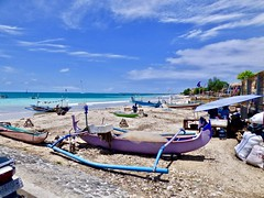 Jimbaran beach . (Franc Le Blanc .) Tags: panasonic lumix indonesia bali jimbaran beach pantai boats fishing