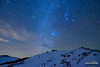 Sirius-ly Cold (kevin-palmer) Tags: bighornmountains bighornnationalforest winter december night sky stars starry astronomy astrophotography dark nikond750 tokina1628mmf28 orion sirius clouds clear blue snow snowy cold frigid nightscape astrometrydotnet:id=nova1850056 astrometrydotnet:status=failed